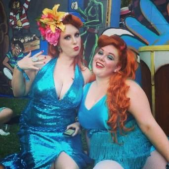 Lulu Cachoo (of the Devilettes) and I, accidental twinsies!